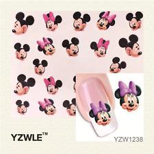 Nail Art de transferencia de agua Pegatina Calcomanías Pegatinas Mickey & Minnie Mouse (YZW1238)