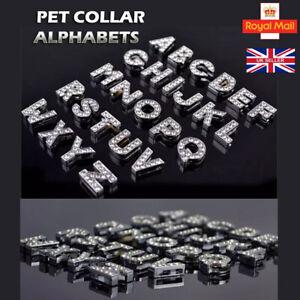 A-Z Rhinestone Slide Letters DIY Charms Name Personalised Collars Bracelet Bling
