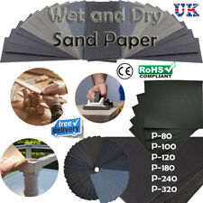 WET AND DRY SANDPAPER 80-320 GRITS WATERPROOF SANDING/POLISHING ASSORTMENT SHEET