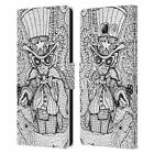 OFFICIAL MAD DOG ART GALLERY B&W DOODLE LEATHER BOOK CASE FOR SAMSUNG PHONES 3