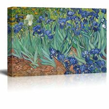 Irises by Vincent Van Gogh -Canvas Prints Wall Art, Ready to Hang - 24