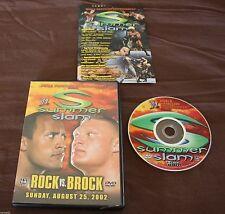 WWE  Summerslam 2002  (DVD, 2002) BROCK LESNAR WWF