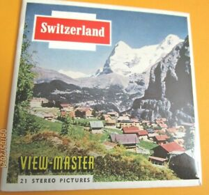 VINTAGE 1960s VIEW-MASTER  REELS  SWITZERLAND