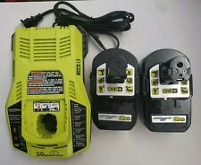 Ryobi (2) 18V One+ Lithium Hp 3.0Ah Batteries & P117 Charger Combo