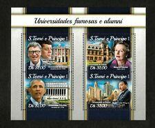Sao Tome & Principe 2018 - Famous University Alumni Obama - Sheet of 4 - MNH