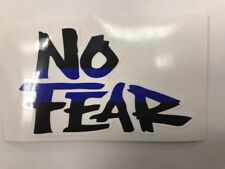 """New Police Sheriff Military Thin Blue Line """"No Fear"""" Sticker / Decal (A2)"""
