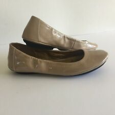 Me Too Fiona Womens Tan Patent Leather Ballet Flats Size 7.5 M