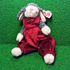 New 1993 Retired Ty Attic Treasures Lilly The Lamb Rare Jointed Plush Toy - MWMT