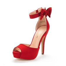 DREAM PAIRS Womens Open Toe Back Zip High Heel Sandals Platform Dress Pump Shoes