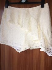 RIVER ISLAND Size 14 White IVory / Floral Lace Skort Shorts New Tags