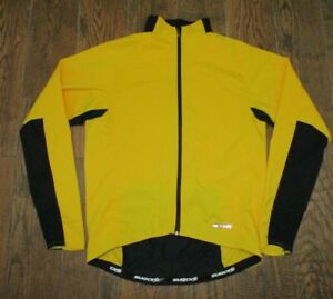 Mens Sugoi Yellow Full Zip Cycling Polyester WIND Jacket Sz. L