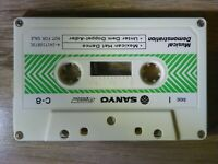 Vintage 80s. Rare SANYO Genuine DEMO Tape/Demonstration Audio Cassette by C-8