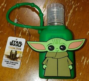 NEW 1 FL OZ Hand Sanitation W/ Case Disney Star Wars Mandalorian Baby Yoda GREEN