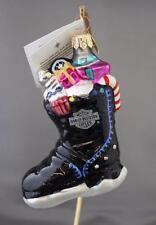 "Christopher Radko Petite Biker Boot Harley Davidson Ornament 00-HAR-06 3.75"""