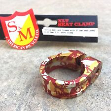 S&M Xlt Seat Clamp Shield Wrap 28.6mm I.D. For 25.4mm Seatpost