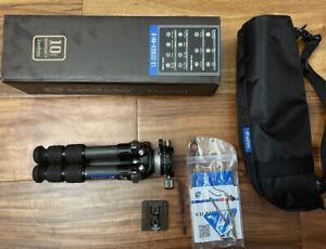 """""""Open Box"""" Leofoto LS-223CEX + RH-0 Leveling Base / panning clamp Carbon Tripod"""