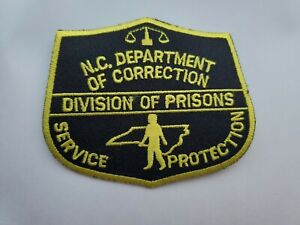 Vintage N.C. Department Of Correction Prisons Shoulder Patch Police Guard badge