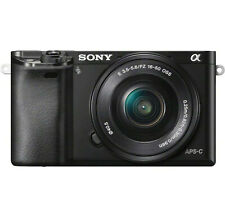 Sony Alpha A6300 24.2MP Mirrorless Digital Camera, Black (w 16-50mm lens) - New