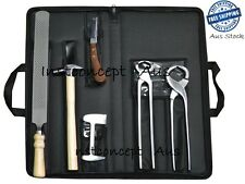 Farrier Hoof kit with Bag Premium Steel Farrier Tool Horse & Cattle Hoof Care
