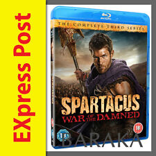 SPARTACUS War of the Damned Season Season Series 3  Blu ray box set not a DVD