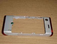 Genuine Original Sony Ericsson W595 Back Housing Chassis Fascia Cover White Red