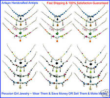 30 Anklets Peruvian Silver Jewelry Wholesale Jewelry Nr