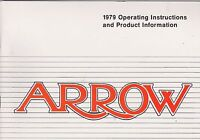 1979 vintage original car owners manual - CHRYSLER - ARROW