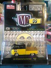 1/64 M2 MIJO EXCLUSIVES MOON EYES 1961 VOLKSWAGEN DOUBLE CAB PICKUP YELLOW BLACK