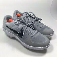Nike Alpha Huarache Elite 2 Low Baseball Cleats Grey Platinum SZ 10 AJ6873-002