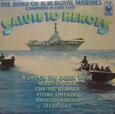 The Band Of H.M Royal Marines(Vinyl LP)Salute To Heroes-Sounds Superb-SPR 90075-