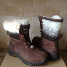 UGG Adirondack II Chocolate Waterproof Leather Wool Snow Boots Size US 7 Womens