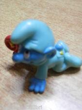 PUFFO Bebe Bambino con tuta verde 1984 Schleich SMURF SCHLUMPF SCHTROUMPF PITUFO