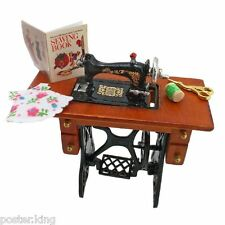 Vintage Sewing Machine Knitting Tools Book 1/12 Doll's House Dollhouse Miniature
