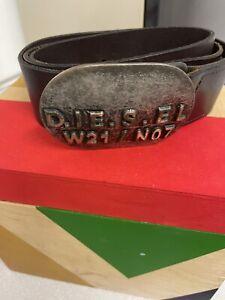 Mens Diesel Leather Belt