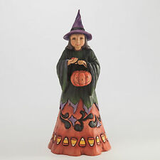 Jim Shore Halloween Candy Corn Witch Figurine ~ Deliciously Wicked ~ 4047835