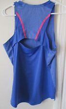 The North Face S womens sleeveless mountain gear blue top tee shirt open back