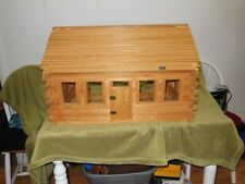 Vintage LOG CABIN Real Wood Doll House LARGE Hand Made/ PLUS EXTRAS
