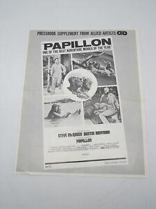 Papillon Press Supplement 1974 Steve McQueen Dustin Hoffman