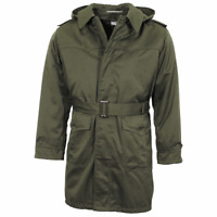 Serbian army military surplus olive green lined parka