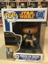 FUNKO POP PRINCESS LEIA BOUSHH 50 DISNEY STAR WARS RARE COLLECTIBLE VINYL BOBBLE