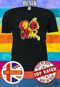 Deadpool Pikachu  Men Women Unisex T Shirt T-shirt Vest Baseball Hoodie 3452