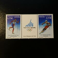 ANDORRE FRANÇAIS N°622/623 JEUX OLYMPIQUES D'HIVER A TURIN NEUF ** LUXE MNH