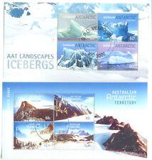 Australian Antarctic Territory-Icebergs & Mountains Min sheets f.used/cto (2)