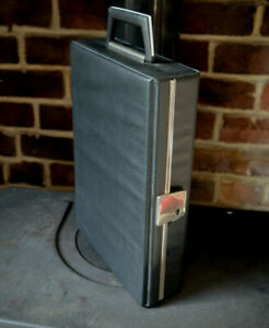 Vintage Cassette Tape Storage Black Carrier Carry Case Box Holds 32 Cassettes