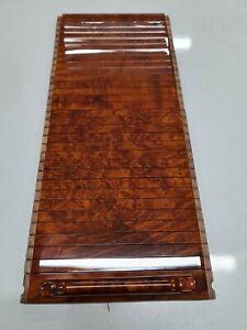Mercedes Benz SL R129 Wood Blind center console accordion Walnut Burlwood 97-01