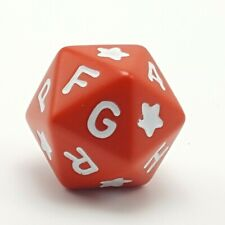 Scattergories 20 Sided Red Die Replacement Game Part D20 Icosahedron Letter