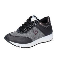Mädchen schuhe LAURA BIAGIOTTI 31 EU sneakers schwarz silber leder BR355-31