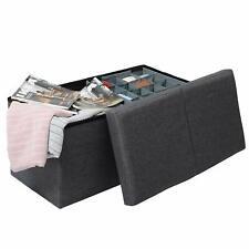 Deckel Sitzwürfel Seestern faltbar 38x38x38cm mit Kunstleder bezogen inkl