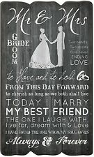 "MR & MRS Wedding/Anniversary Distressed Pallet Wood Sign, 23.5"" x 14"""