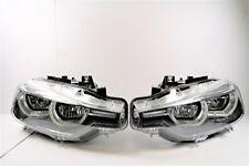 New Australian BMW 3 Series F30 Led Headlights Left Right Pair Black Inside OEM